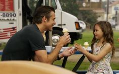 Justified...Adorable picture of Raylan with his daughter Willa...