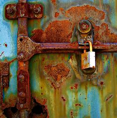 Not really a door but I love it anyway. Who knew rust could be so beautiful? by LaFleureRouge1 shipping container