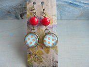 peloeze handgemaakte juwelen | Hangers brons+glas