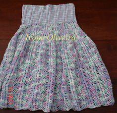 vestido linha mesclada croche infantil - Pesquisa Google