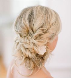 Low Bun Wedding Hairstyles Chignon Wedding Hairstyle, Low Hair Buns For Weddings - Mainemomon The Run Braided Hairstyles For Wedding, Messy Hairstyles, Pretty Hairstyles, Bridal Hairstyles, Chignon Wedding, Braided Updo, Hairstyle Ideas, Braided Wedding Hair, Messy Chignon