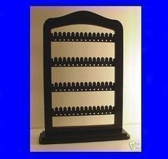 Earring jewelry rack holder ALL BLACK wood with by LangtonStudio