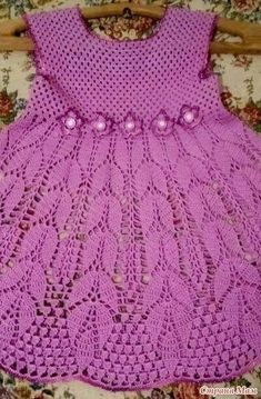 Diy Crafts - DIY & crafts projects, contents and more - Diy Crafts Best 12 556968678917249794 P Crochet Dress Girl, Crochet Baby Dress Pattern, Baby Dress Patterns, Crochet Baby Clothes, Baby Girl Crochet, Knit Crochet, Crochet Patterns, Baby Kind, Beautiful Crochet