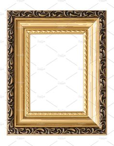 0403b694225 Golden picture frame by LiliGraphie on  creativemarket Gold Picture Frames