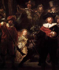 REMBRANDT - Rembrandt Harmenszoon VAN RIJN - Dutch ( Leiden 1606-1669 Amsterdam) The Nightwatch (detail)  1642