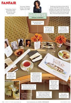 Very cool Vanity Fair feature on the desks of all stars like Oprah! What does your work space look like?