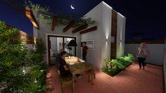 Projeto Modelo Residência Popular 77m² - Área de Lazer Noite - Studio Urbano Arquitetura e Interiores