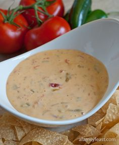 Chile con Queso, good basic recipe.  I sometimes add ground beef or ground turkey (browned first).  I always add diced green onions, fresh cilantro and garlic.  Fresh Spinach is also great in here and adds alot of nutrition.  If you want more heat add jalapenos, serranos or crushed red pepper flakes. The best!