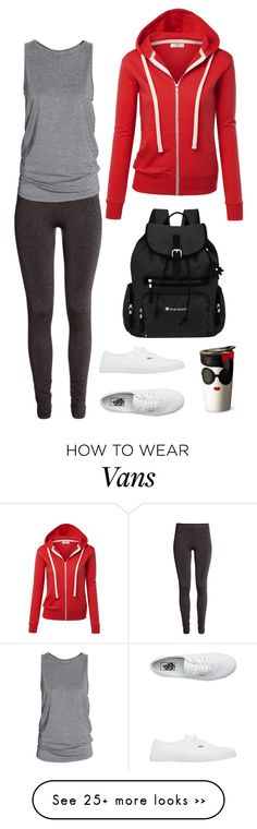 """Sans titre #5660"" by youngx on Polyvore featuring H&M, Vans, Sherpani and Alice + Olivia"