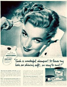 Vintage ad with M. Monroe