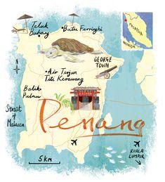 Penang map by Scott Jessop.