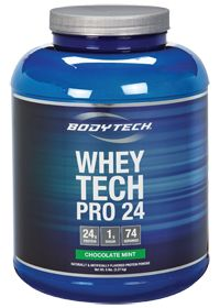 Great taste with low fat/fat free milk. High protein low carbs!! Bodytech WHEY TECH Pro 24 CHOCOLATE MINT, 5.0 Pound