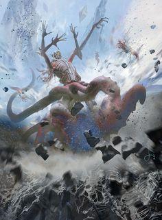 Deathless Behemoth - Battle for Zendikar MtG Art