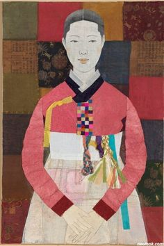 Bojagi is . It used small pieces of cloth, and put them together, creating a square cloth. Textile Fiber Art, Textile Artists, Textiles, Textile Patterns, Korean Art, Asian Art, Korean Traditional, Traditional Art, Korean Crafts