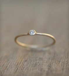 Stackable 14k Ring With Moissanite.