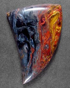 Silver Hawk's Designer Gemstones, Chinese Pietersite Cabochon