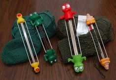 Tutorial for making your own DPN needle holders. Very inexpensive and very easy. Cute too!!!