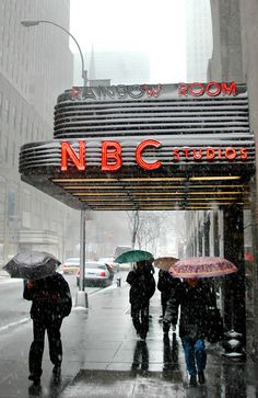"Entrance to NBC (""Saturday Night Live,"" etc.) on the West 50th Street side of 30 Rockefeller Center."