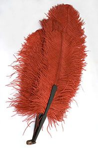 Large feather fan, 1920s
