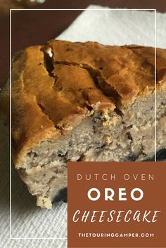 Bring fine-dining to your next camp out with dutch oven oreo cheesecake--oh yum! Oreo Cheesecake, Cheesecake Recipes, Dessert Recipes, Campfire Desserts, Campfire Food, Camp Desserts, Best Camping Meals, Camping Recipes, Camping Ideas