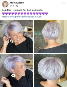 Short Grey Hair, Short Straight Hair, Short Hair With Layers, Short Hair Cuts, Grey Hair Styles For Women, Medium Hair Styles, Short Hair Styles, Modern Bob Hairstyles, Thin Hair Haircuts