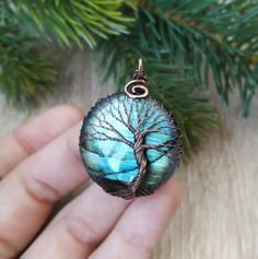 Tree Of Life Necklace, Tree Of Life Pendant, Eye Necklace, Labradorite Healing Properties, Copper Anniversary Gifts, Godfather Gifts, Jewelry Polishing Cloth, Viking Jewelry, Unique Necklaces