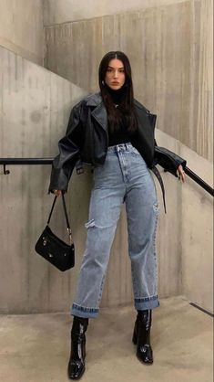 Winter Fashion Outfits, Edgy Outfits, Retro Outfits, Cute Casual Outfits, Look Fashion, Fall Outfits, Outfit Formal, Dress Outfits, Dresses