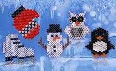 Winter ornaments perler bead pattern
