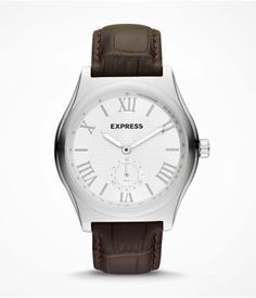 Analog Leather Strap Watch #Express #mensfashion #watches #style