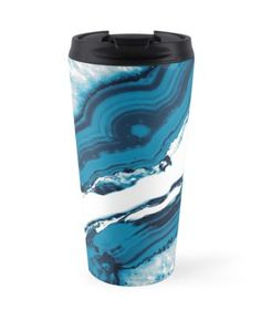 """Blue Agate #2 #gem #decor #art "" Travel Mugs by anitabellajantz 