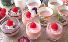 Raspberry Panna Cotta - sugar and dairy free