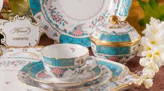 Designed By Herend in Tupini was inspired by Arabian ceramics glittering in enamel colours. Borrowing just a handful of motifs from the mysterious Orient. Arabian Nights, The Conjuring, The Borrowers, Mysterious, Masters, Birth, Spicy, Tea Cups, Enamel