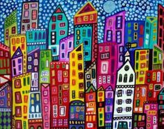 New York City Art  Art Print Poster by Heather Galler SIGNED (HG724)