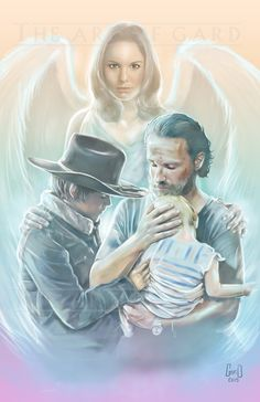 I drew this to commemorate the Grimes family on The Walking Dead. It was drawn at from Adobe Photoshop. All prints are bagged with a board backing. I also sign the print. Walking Dead Coral, Carl The Walking Dead, Walking Dead Fan Art, Walking Dead Wallpaper, Walking Dead Tv Show, Walking Dead Series, Walking Dead Zombies, Carl Grimes, Judith Grimes