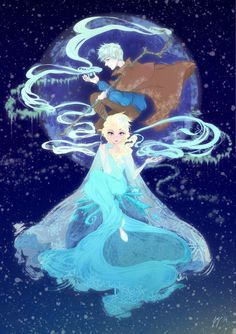 Frozen and Rise of the Guardians Poster by yienyipfan on Etsy, $15.00