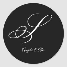 Shop Wedding Calligraphy Fancy Letter S Monogram Classic Round Sticker created by cliffviewgraphics. Monogram Stickers, S Monogram, Monogram Gifts, Custom Stickers, Fancy Letter S, Wedding Calligraphy, Round Stickers, Hand Lettering, Initials