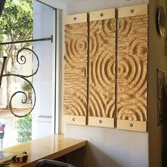 Stunning Geometric Textures Carved Into Plywood Using a CNC Machine