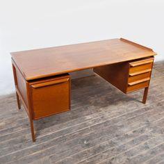 Vintage Schreibtisch Teak Tisch / Denmark Danish Design / Midcentury 60er 70er