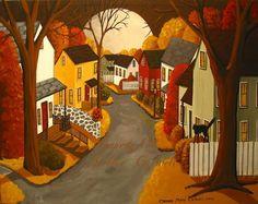 halloween art paintings | Halloween Folk Art Paintings