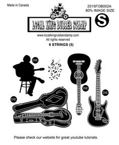 6 STRINGS (6) EZ MOUNTED RUBBER STAMPSYour Price:   $17.99 2015 Fall New images