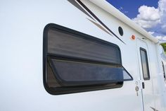 Keystone Campers **Like Jalousie windows that allow windows to be open when raining**