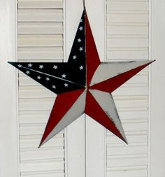 Americana Patriotic Metal Wall Barn Star-Patriotic Decor,Americana Decor,Barn Star,Flag Barn Star,Wall Star,Americana Barn Star