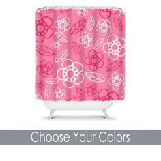 Monogram Shower Curtain Custom Personalized TRM Design 12 (6)