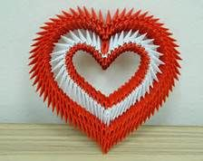 3D Heart Origami - Bing images