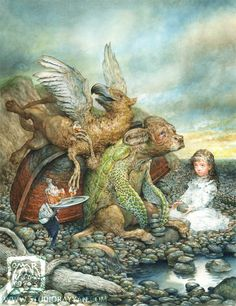 Omar Rayyan | ILLUSTRATION | Alice in Wonderland | The Mock Turtle