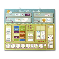 daily routine charts for kids diy Daily Routine Chart For Kids, Charts For Kids, Classroom Calendar, Kids Calendar, French Classroom Decor, Kids Schedule, Daily Schedules, Teachers Corner, Classroom Organisation