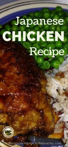 Delicious Japanese Chicken - perfect with rice and garden peas Savoury Dishes, Food Dishes, Food Food, Ramen, Japanese Chicken, Japanese Food, Asian Recipes, Healthy Recipes, Healthy Meals