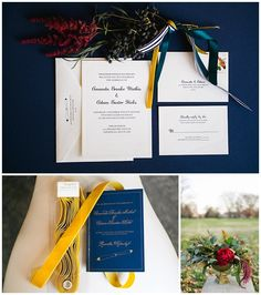 Amanda + Adam {Lang Thomas Photography, Jaclyn Journey, Couture Closet} | Wedding Row Kentucky, simple navy wedding invitation suite