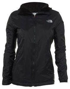 21c08b02406a2 North Face Pitaya 2 Womens CAV9-JK3 Black Full Zip Hooded Jacket Wmns Size M