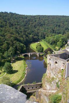 The Semois River in Bouillon, Belgium